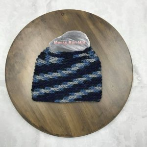 Blue Camo Bun Hat