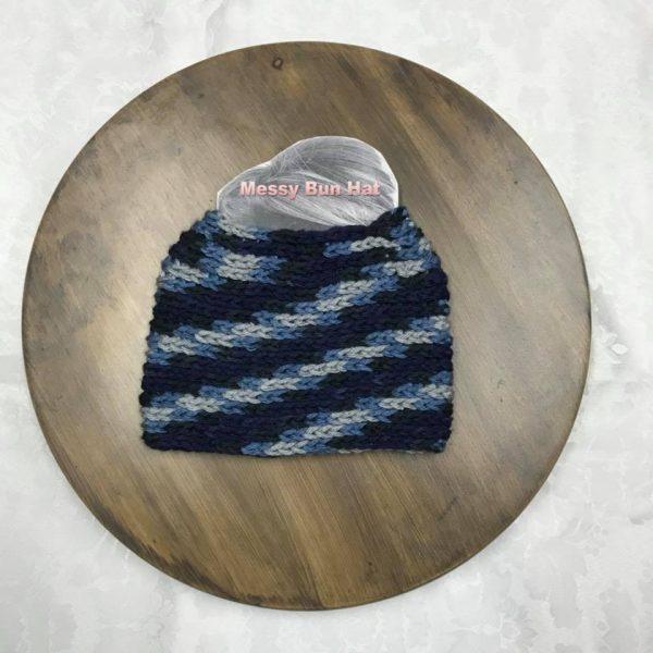 Blue Camo Bun Hat