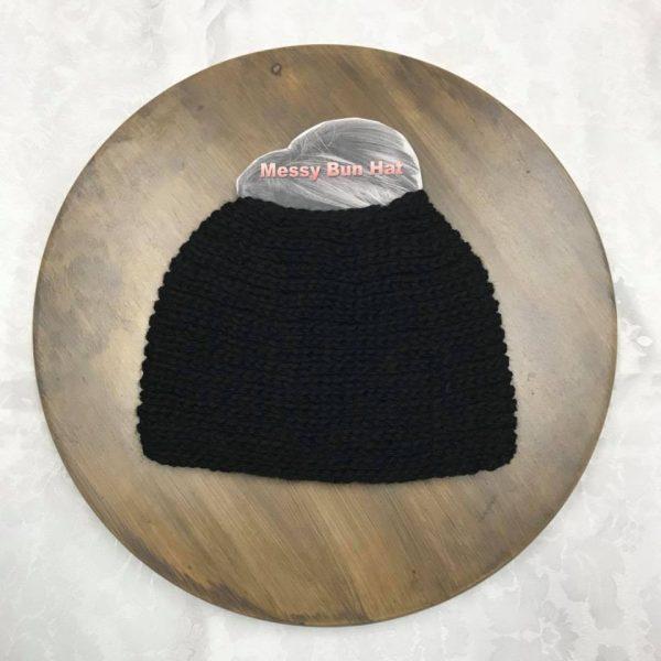 Black Bun Hat