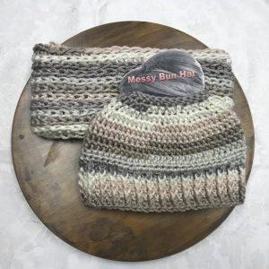 Linen Messy Bun Hat