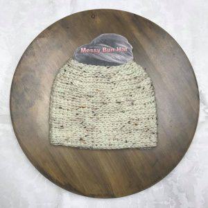 Aran Tweed Bun Hat