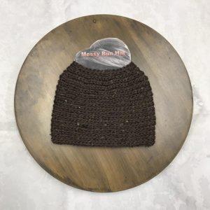Taupe Tweed Bun Hat