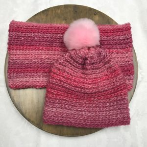 Pink Peony Hat Set