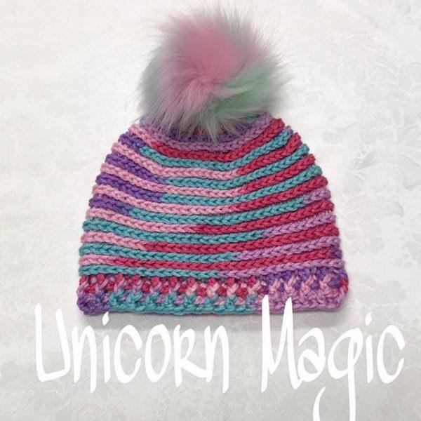 Unicorn Pom Pom Hat